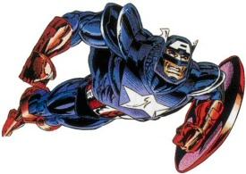 Captain America in armor