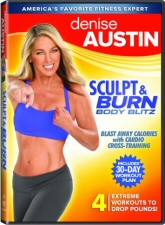 Denise Austin: Sculpt and Burn Body Blitz DVD