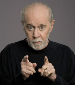 George Carlin pointing