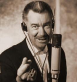 Thurl Ravenscroft with mic