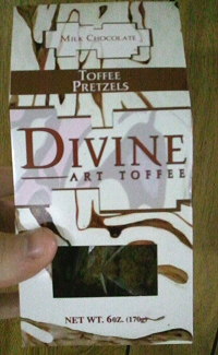 Divine Art Toffee: Milk Chocolate Toffee Pretzels