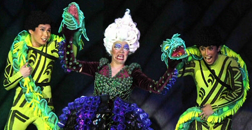 Flotsam, Ursula and Jetsam from the Manila production of The Little Mermaid
