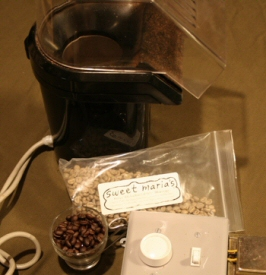 Popcorn popper coffee roaster
