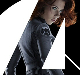 Scarlett Johansson as Black Widow - Avengers poster