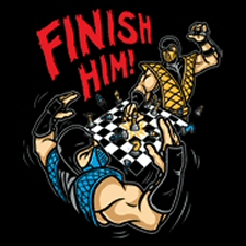 MK Mortal Kombat Chess Finish Him shirt from Tshirt Bordello