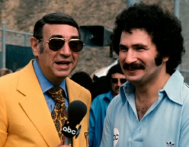 Howard Cosell and Gabe Kaplan in Battle of the Network Stars