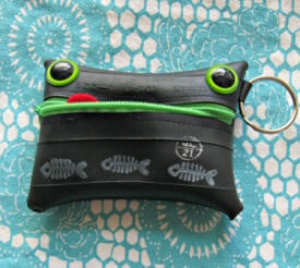 Scrappy the Recycled Tire Monster Key Chain