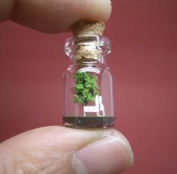 Tiny Green Tree and a Couple