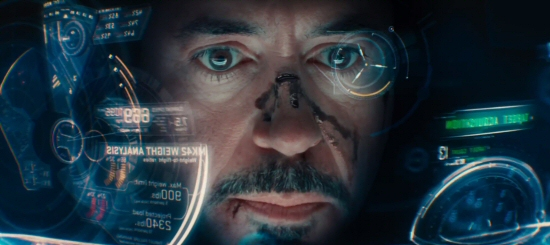 Iron Man 3 Robert Downey Jr. Headsup Display