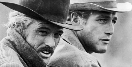 Robert Redford and Paul Newman from Butch Cassidy and The Sundance Kid