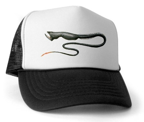 Gulper eel trucker hat