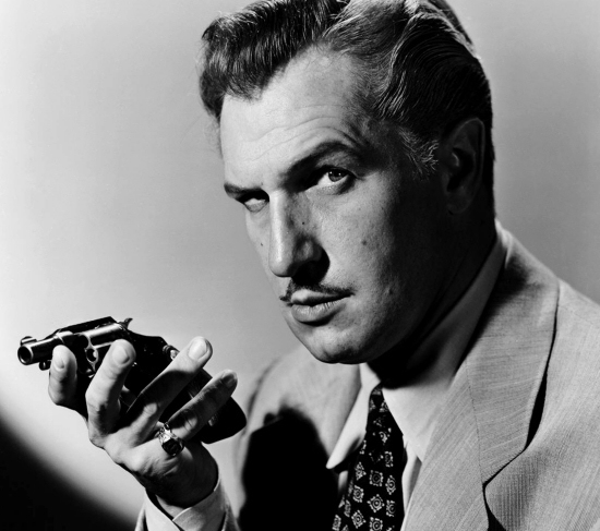 Vincent Price with gun