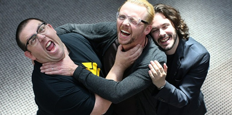 Nick Frost, Simon Pegg and Edgar Wright
