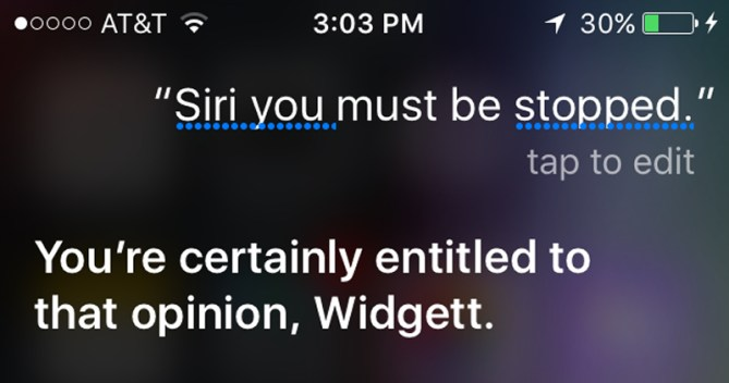 Siri, You Must Be Stopped