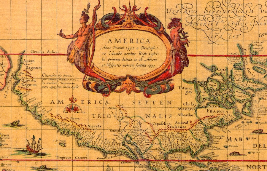 Old Map of North America