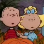 Linus and Sally from The Great Pumpkin