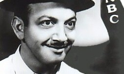 Mel Blanc with boater hat
