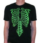 Spinal Tap Green Skeleton T-Shirt: Exactly Medically Accurate