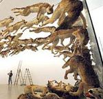 Cai Guo-Qiang's Head On: If the Wolves Smash Into a Glass Wall, It's All Over...