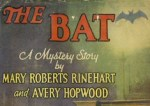 32 Days of Halloween IV, Movie Night No. 28: The Bat (1926)