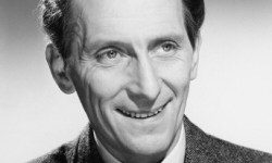 Peter Cushing smiling