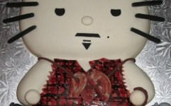 Hello Kitty Daryl Dixon from Walking Dead Cake