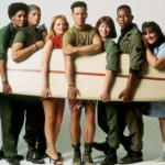 China Beach cast with surfboard