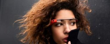 Model Wearing Google Glass