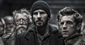 John Hurt, Chris Evans and Jamie Bell from Snowpiercer