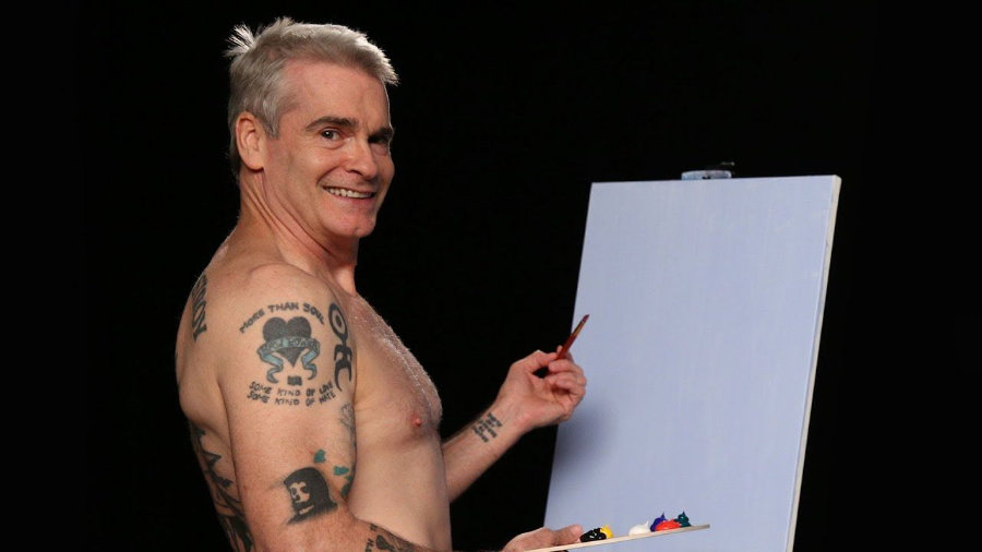 Henry Rollins shirtless painting