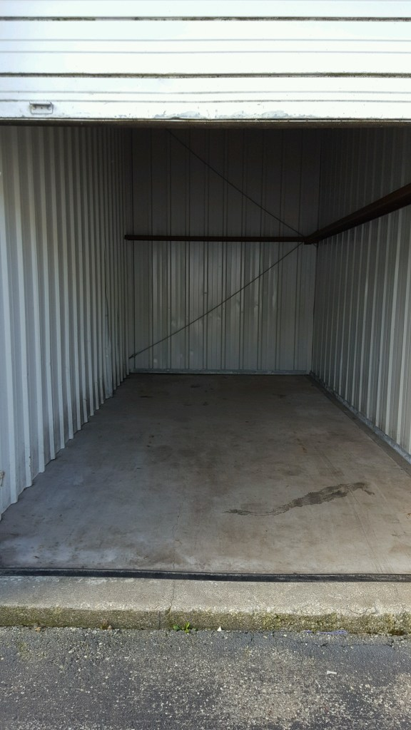 an empty storage locker