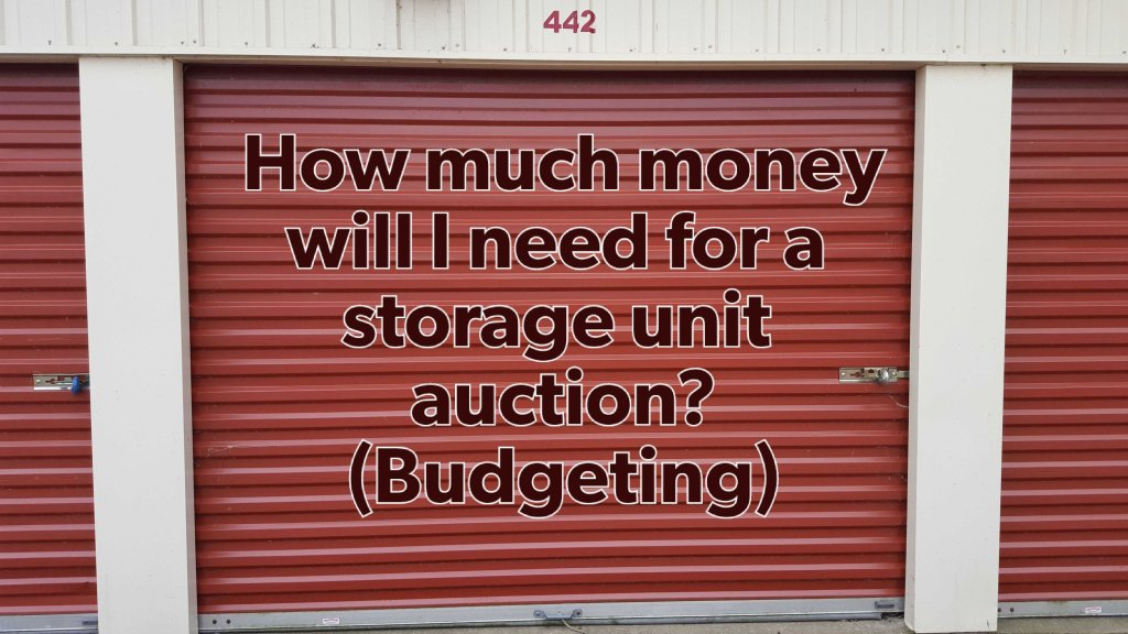 closed door to storage garage before an auction budgeting how much money