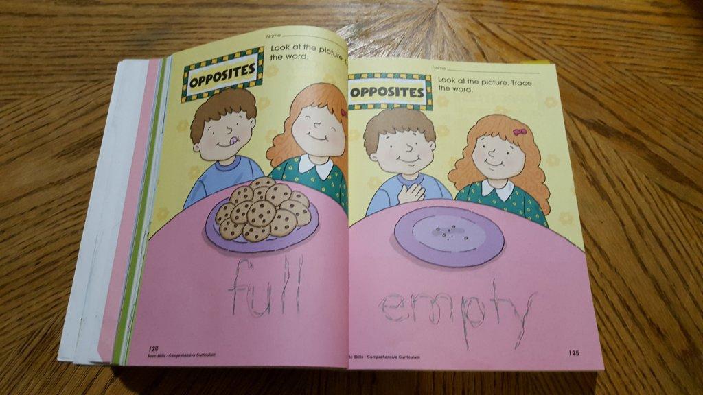 preschool workbook opened up Homeschooling Preschool - What do I DO for Pre-School?
