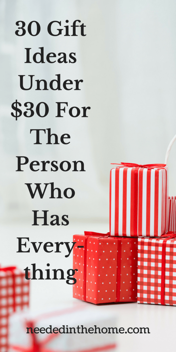 30 Gift Ideas Under 30 For The Person Who Has Everything