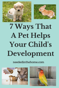 7 Ways That A Pet Helps Your Child's Development