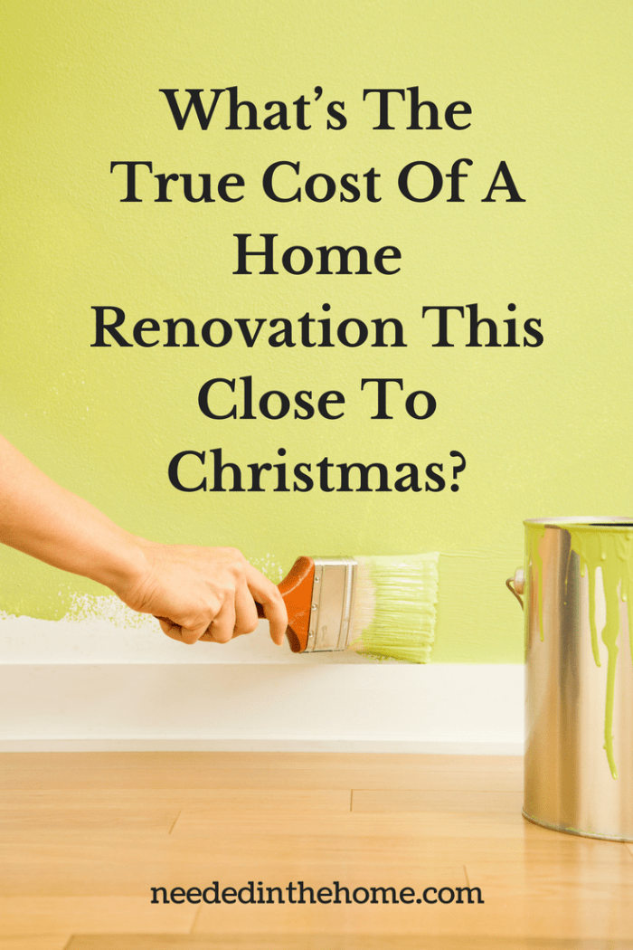 hand paintbrush painting a wall paint can What's The True Cost Of A Home Renovation This Close To Christmas?