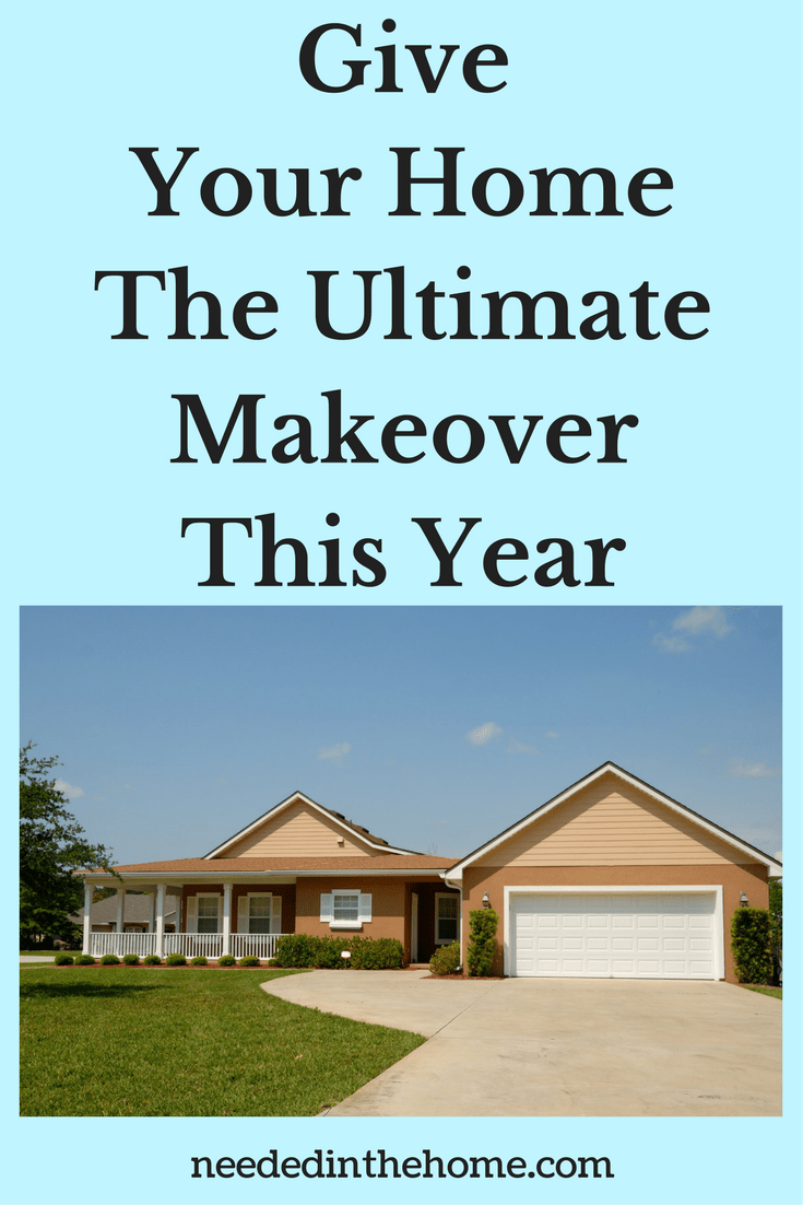a modern home with a porch and two card garage and driveway Give Your Home The Ultimate Makeover This Year