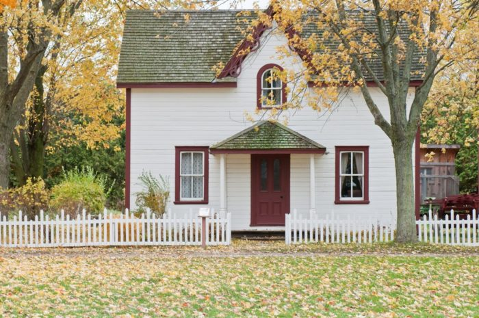 house with a white picket fence in autumn A Home is Never Finished, There is Just Nothing More to Add