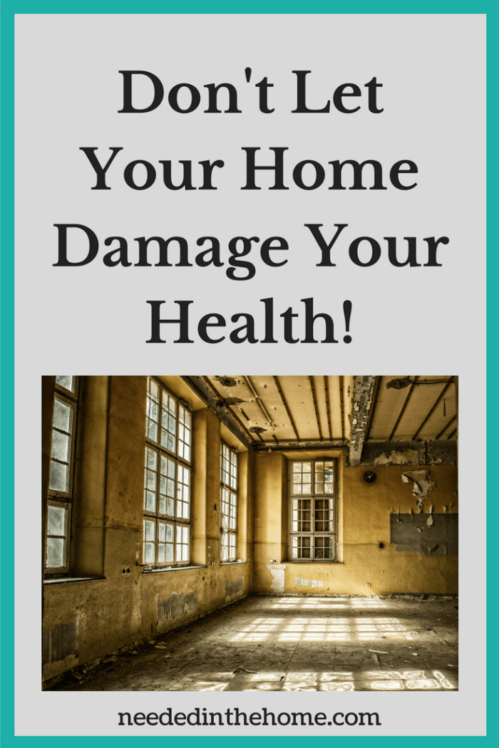 room of mould mold Don't Let Your Home Damage Your Health! Healthy Home Reduce Clutter from NeededInTheHome
