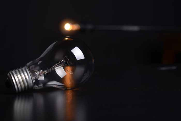 burned out light bulb in the dark how to prepare for a power outage