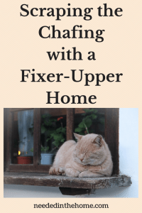 Scraping The Chafing To Make Lines Smoother In Fixing Up Your Fixer-Upper Home