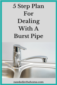 5 Step Plan For Dealing With A Burst Pipe
