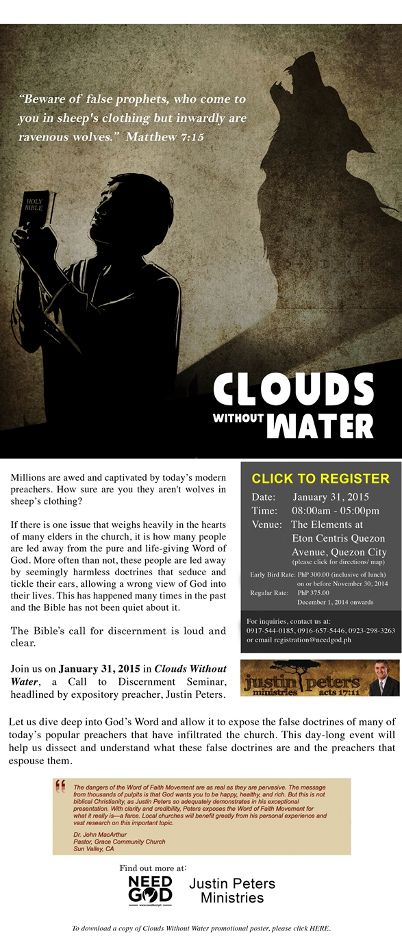 Invitation to Clouds Without Water Seminar