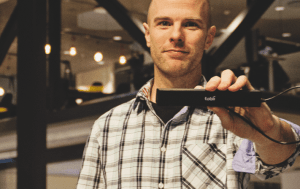 Jason i Kista Nod med eye tracker