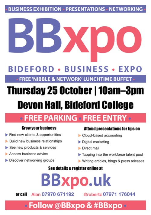 Bideford Business Expo poster | BBxpo | NeeditFindit