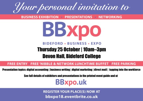 Invitation to Bideford Business Expo | BBxpo | Need it Find it