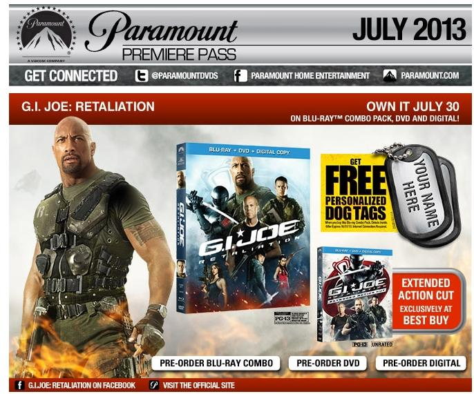 GI JOE Retaliation Extended Cut At Best Buy!!