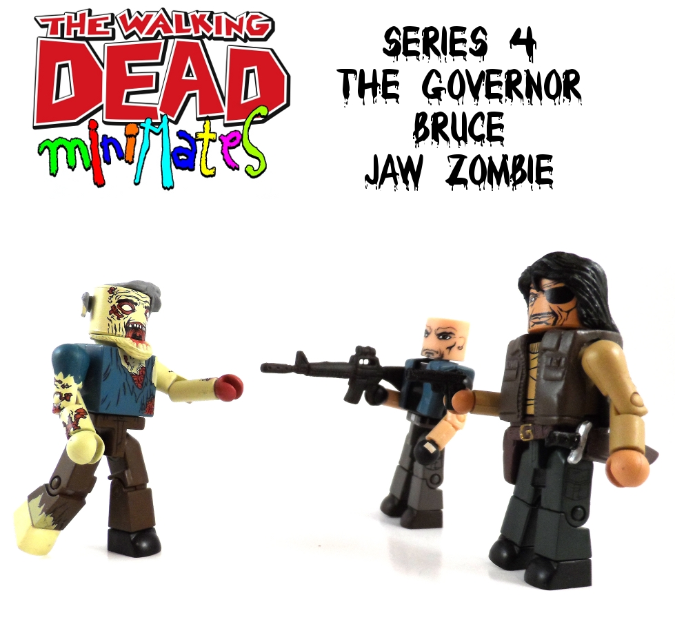 Minimates Governor, Bruce & Jaw Zombie Review