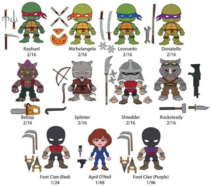 Loyal Subjects Revealed New TMNT Vinyl Figures