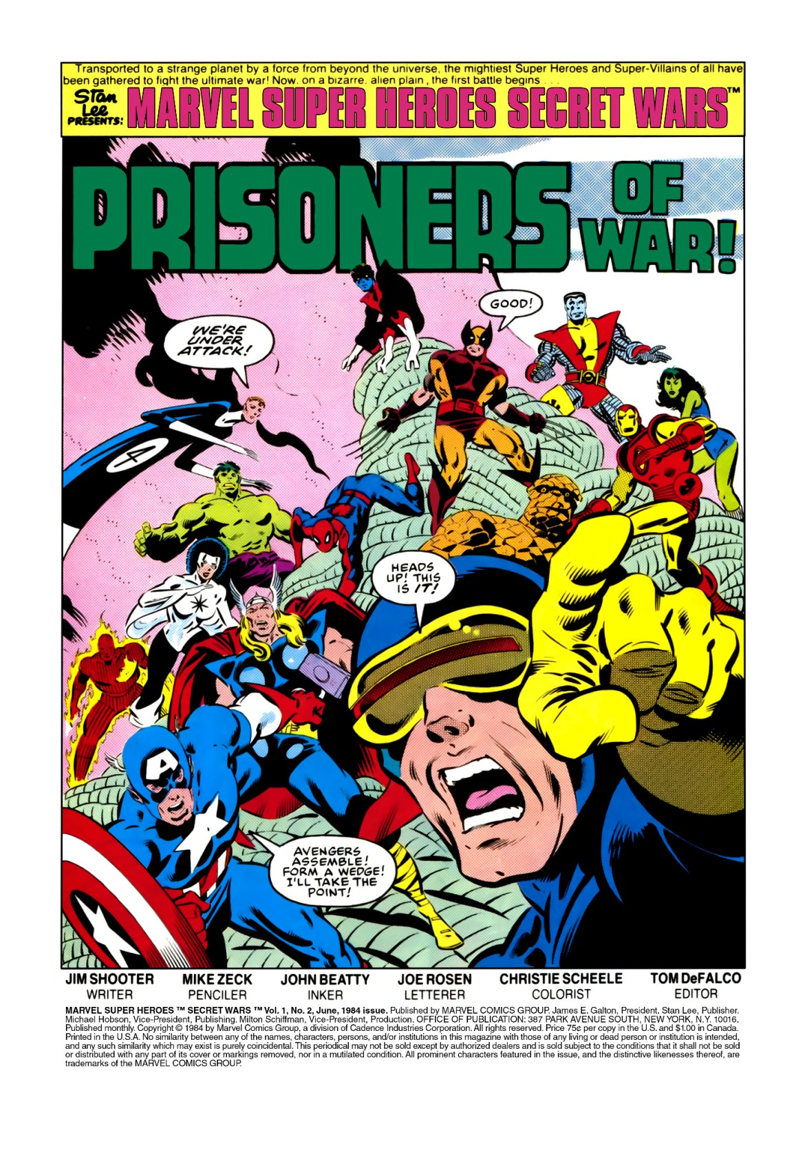 Reviews Of Old Comics: Marvel Super Heroes Secret Wars #2